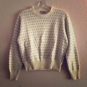 Vintage Rosette Sweater